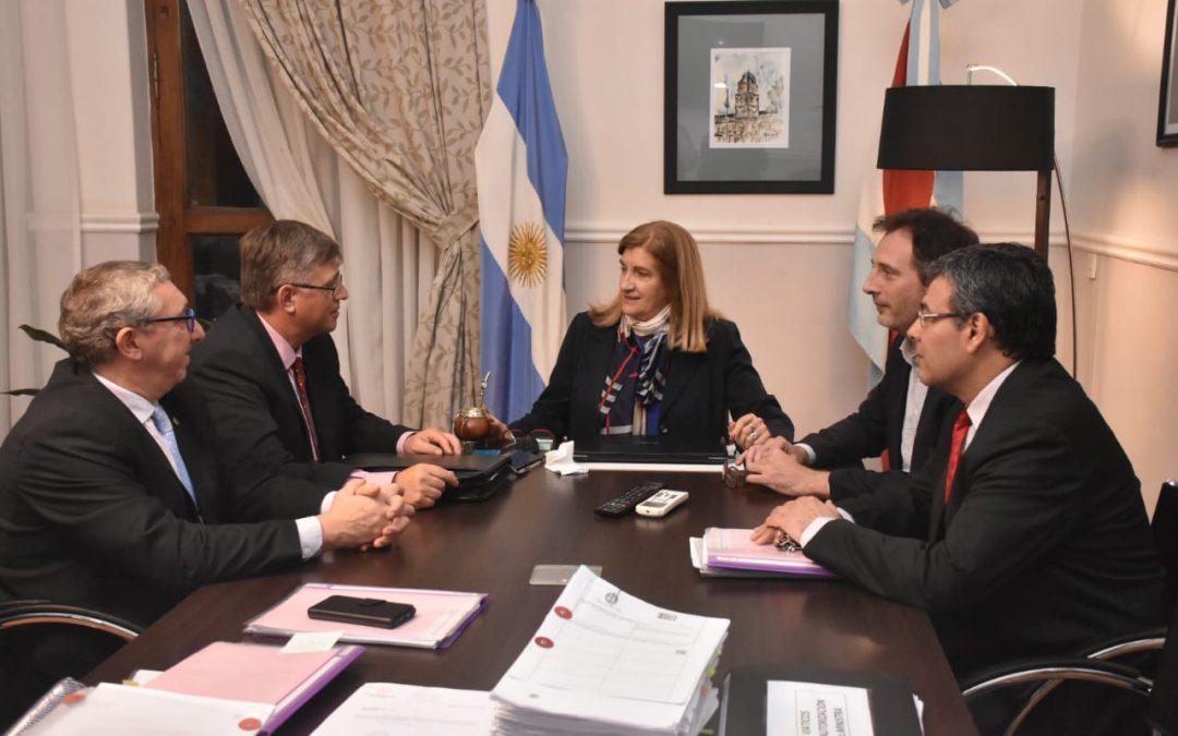 Autoridades del Colegio de Abogados se reunieron con la ministra de Gobierno