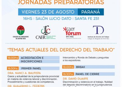 Jornadas Preparatorias - Congreso del Trabajo