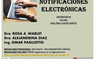 Charla sobre Notificación Electronica
