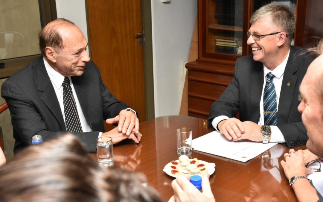 Eugenio Zaffaroni visitó el Colegio de Abogados