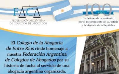 100 años de la Federación Argentina de Colegios de Abogados (F.A.C.A.)