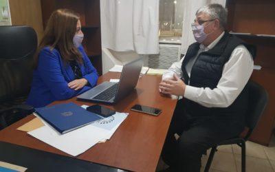Canavesio se reunió con la diputada Farfán